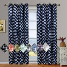 Lined Cotton Curtains Meridian Thermal Grommet Room Darkening Curtains Set Of 2 Panels