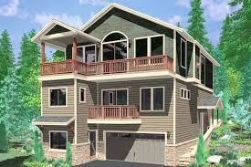 hillside home designs hillside home plans hillside home plans with basement sloping lot