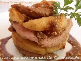 cuisiner aiguillette de canard recette aiguillettes de canards poêlées aux pommes et abricots 750g