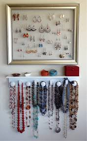 necklace organizer display images Diy jewelry organizer replace the back of a frame with a screen jpg
