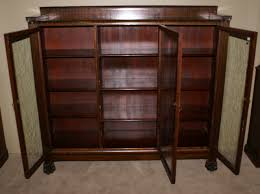 Bookcase With Glass Door Oak Bookcases With Glass Doors Foter Antique Bookcase Glass Doors