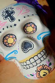 day of the dead sugar skull ceramic art decor
