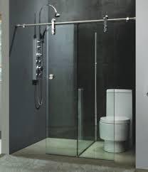 Glass Shower Sliding Doors Frameless Frameless Sliding Shower Enclosures Modern Bathroom Raleigh Modern