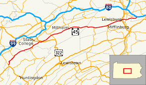 State College Map by Pennsylvania Route 45 Wikipedia