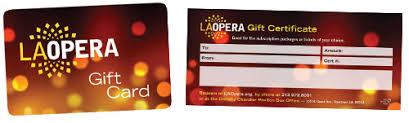 la opera gift cards certificates