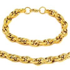 necklace rope images Men 39 s gold plated stainless steel rope chain necklace 24 quot and