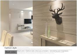 Christmas Reindeer Head Wall Decoration by Nordic Home Decorations 3d Diy Wood Wooden Crafts Mdf Wall Decor