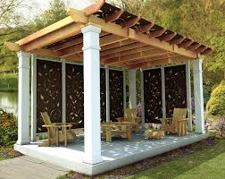 deck pergola privacy screen home design ideas