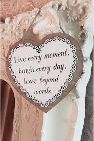 live laugh love slogan hanging wooden heart lullabellz