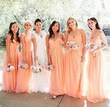 bridesmaid dress colors picture of pastel peachy dresses