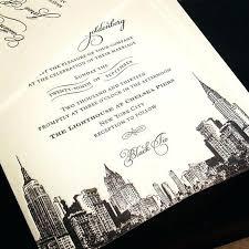 wedding invitations nyc nyc skyline wedding invitations city skyline laser cut greetings