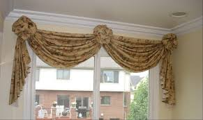 Swag Valances For Windows Designs How To Make A Valance With 2 Window Panels Soft Treatment
