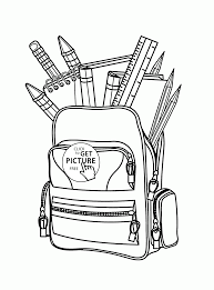 back to full bag coloring page for kids educational