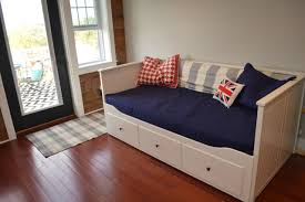 Ikea Hemnes Daybed The Bedroom Slash Living Room In The Barn Apartment Newlywoodwards