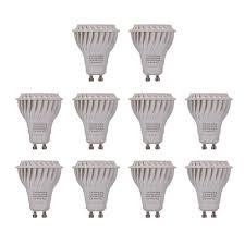 Led Gu10 Light Bulbs by Chichinlighting 7w Led Gu10 Cool White 10 Pack 600 Lm