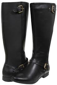 size 12 womens boots au black knee high boot with buckle detail size 12 via au
