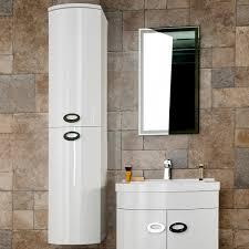 Wall Mounted Bathroom Storage Units Pebble D Shaped Tall Boy Bathroom Storage Unit Wall Mounted
