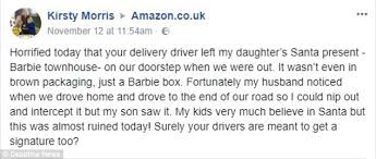 amazon is accused of ruining christmas present surprises daily