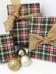 christmas plaid wrapping paper plaid gift wrap nico and lala
