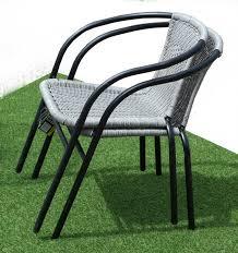 Bistro Chairs Uk Jmart Grey Wicker Bistro Chair