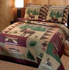 Rustic Bedroom Set Canada Bedroom Greenland Home Moose Lodge Quilt Set Rustic Bedding Set