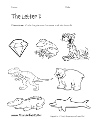 letter d worksheets preschool alphabet printables