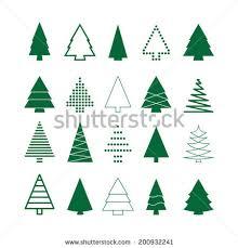 tree set stock vector 214488889