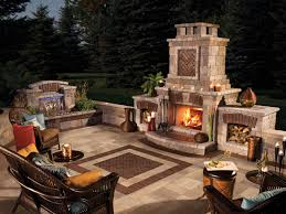 home design backyard patio fireplace ideas industrial compact