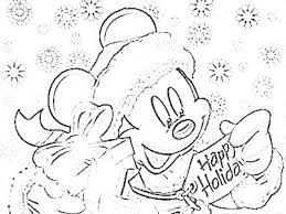 mickey mouse holiday coloring pages 14 disney christmas coloring pages picture disney coloring pages