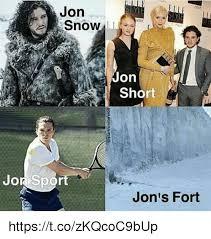 John Snow Meme - jon snow jon short jor sport jon s fort httpstcozkqcoc9bup jon
