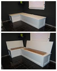 Corner Bench With Storage Kitchen Banquette With Storage Decorating Ideas Pinterest