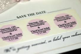 save the date stickers save the date thimbleanna