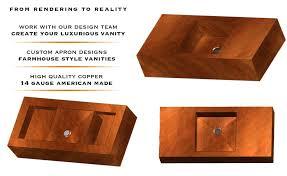 Copper Bathroom Vanity by Bathroom Vanity Sinks U0026 Countertops Usa Havens Metal
