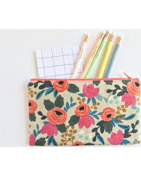 pencil pouch deal alert rifle paper co fabric zipper pouch pencil rosa