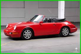 1990 porsche 911 convertible porsche 911 convertible 1990 red for sale wp0cb2963ls471899 1990