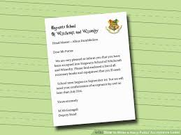 how to write a harry potter acceptance letter 6 steps