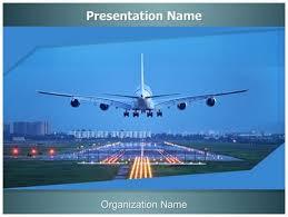 plane runway powerpoint template background