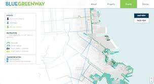 San Francisco Bike Map by The Blue Greenway Making Maps Of San Francisco U0027s Fast Changing