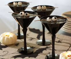 eerie eyeballs make this creepy cocktail perfect for halloween
