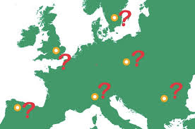map without country names can you name the countries of europe without borders