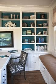 presenting 30 beach style home office design ideas white shelves