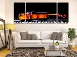 living room canvas 3 piece canvas wall art violin wall decor piano huge canvas print