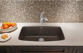 Under Mount Kitchen Sink by Blanco 441613 Valea Super Single Bowl Silgranit Ii Undermount
