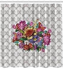 Polyester Flowers - amazon com ambesonne vintage flower bouquet washable polyester