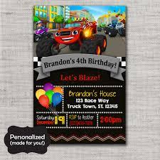 monster trucks races blaze and the monster machines birthday invite blaze invite jpg