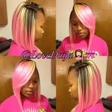 which hair is better for sew in bob pink bob shared by daija weave extensions extensions and bobs
