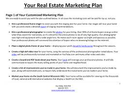 download real estate marketing plan template
