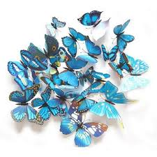3d butterfly wall stickers blue store