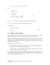 finite element modelling of adhesive