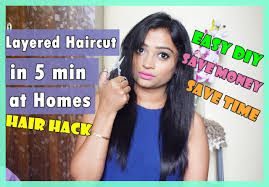 haircuts you can do yourself layered haircut in 5 minutes at homes easy diy indian mom on